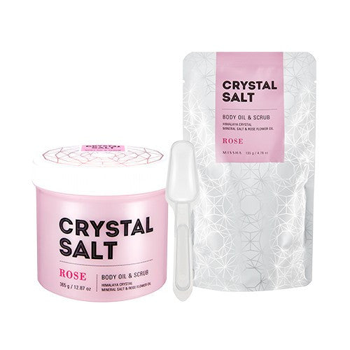 Crystal Salt Body Oil Scrub (Rose) - Missha Middle East