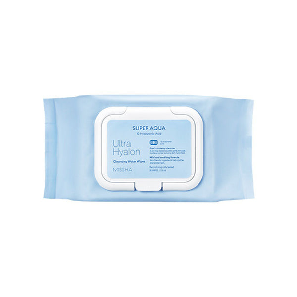 MISSHA SUPER AQUA ULTRA HYALRON CLEANSING WATER WIPES - Missha Middle East