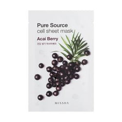 Pure Source Cell Sheet Mask (Acai Berry) - Missha Middle East