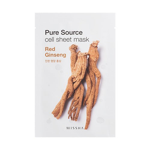 Pure Source Cell Sheet Mask (Red Ginseng) - Missha Middle East