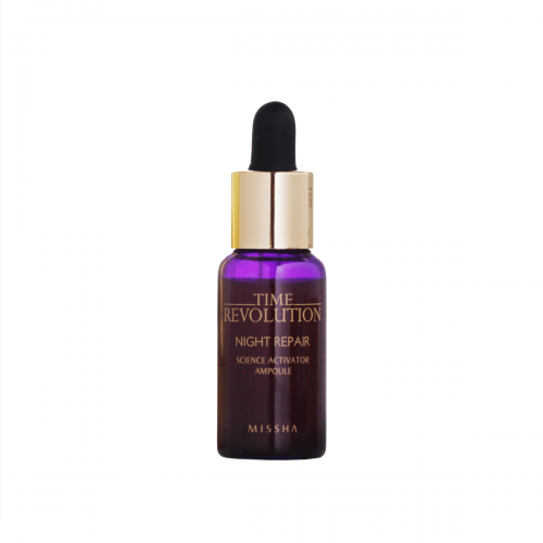 Delux size Time Revolution Night Repair Ampoule [Gold] 10ml - Missha Middle East