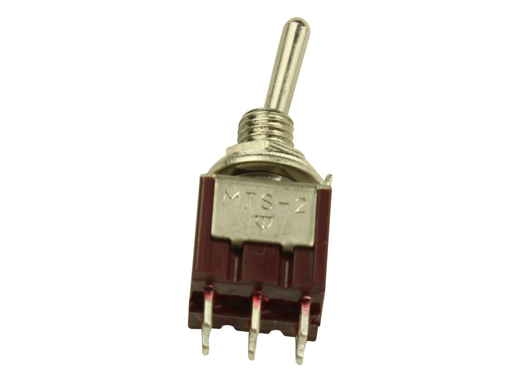 On/on DPDT 2 way mini toggle switch