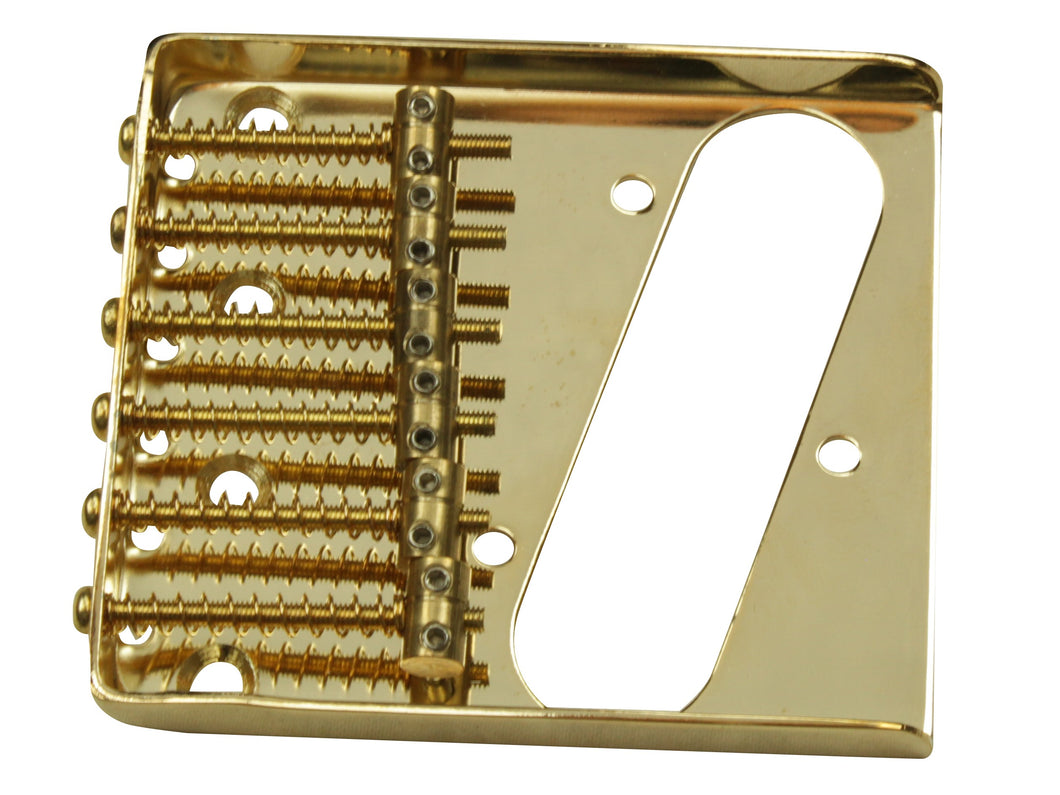 Individual 6 brass saddles Telecaster bridge