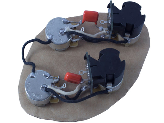Les Paul style main cavity wiring harness (push/pull coil split)