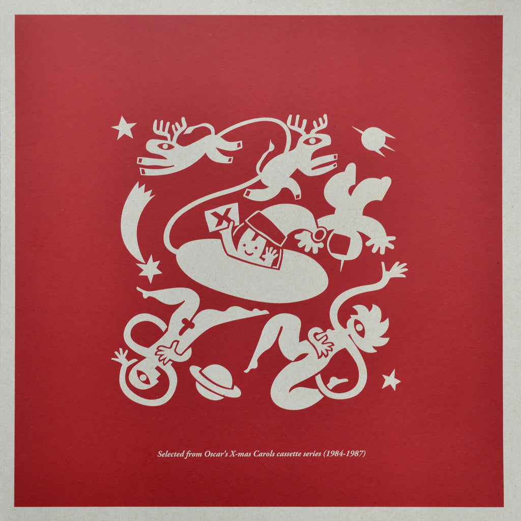 "Shipping now! DOM34-L: ""X-mas Card From Outer Space (Oscar's X-mas Carols 1984-1987)"" LP Compilation"