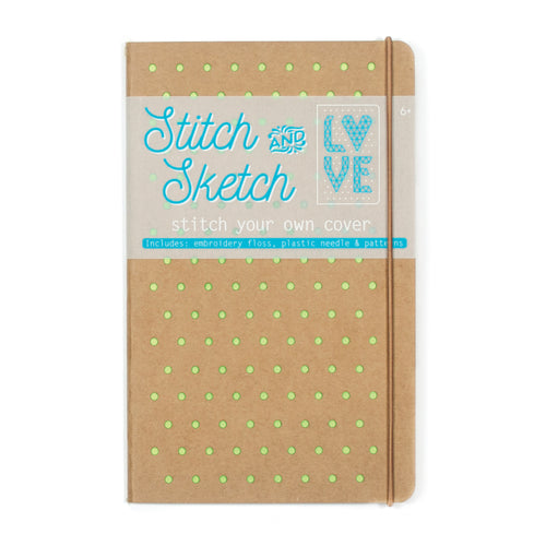 Stitch & Sketch Cover Sketchbook, Green