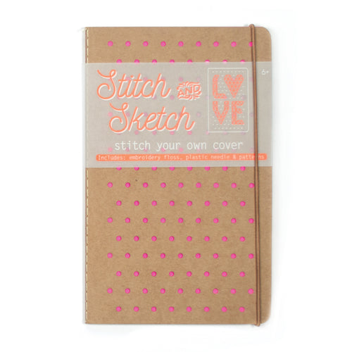 Stitch & Sketch Cover Sketchbook, Pink