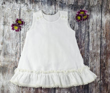 White Pom Pom Dress