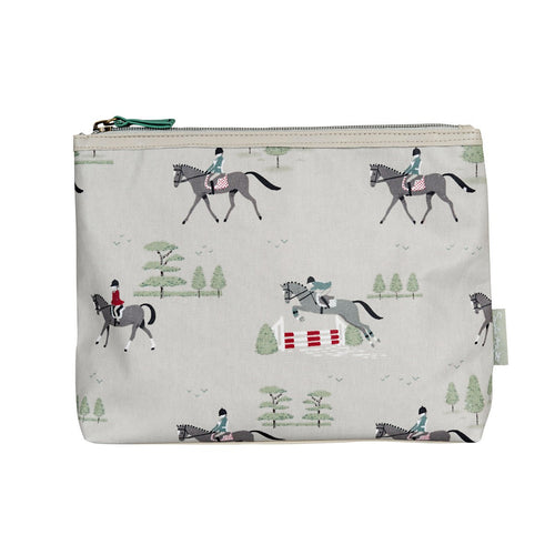 Horses Oilcloth Wash Bag