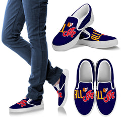 AI Navy Women's Slip-on Shoes