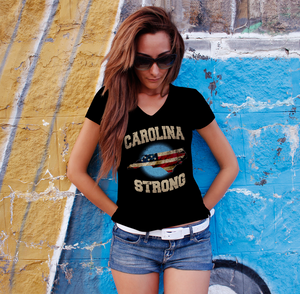 North Carolina Strong Ladies V-Neck Tee