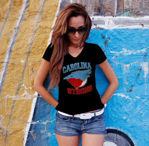 NC-SC Carolina Strong Ladies V-Neck Tee