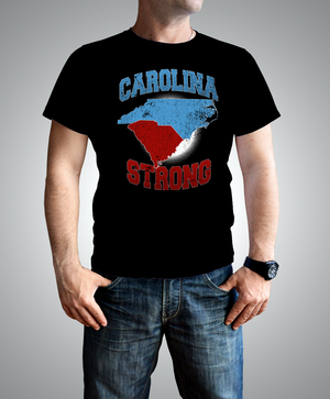 NC-SC Carolina Strong Black T-shirt