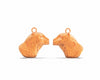 Bertuo Leopard - 18ct Rose Gold Earrings
