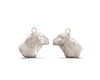 Bertuo Leopard - 18ct White Gold Earrings
