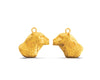 Bertuo Leopard - 18ct Yellow Gold Earrings