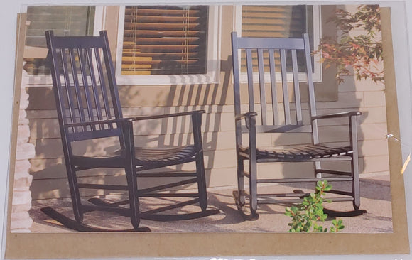 Card - Rocking Chairs on Porch