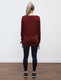 Drawstring Long Sleeve Shirt