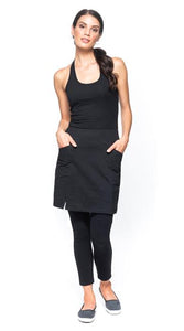 Skirt - Black - Small Slit - Organic Cotton