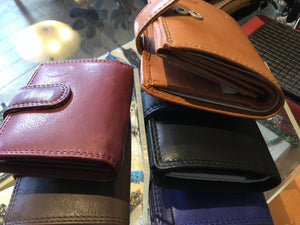 Leather Small Ladies Folding Wallet
