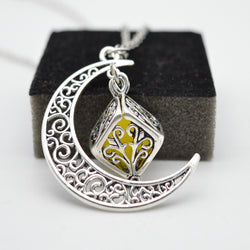 Moon Essential Oil Diffusing Necklace