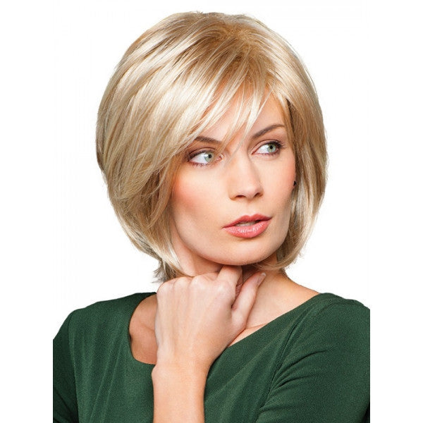 "12"" Hairy Grace Virgin Remy Hair Human Hair Short Straight Women Hair Wig with Bang Golden"