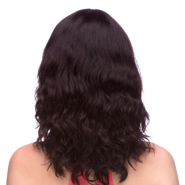 "22"" Remy Human Hair Full Wigs Woman Long Curly with Bang Black"