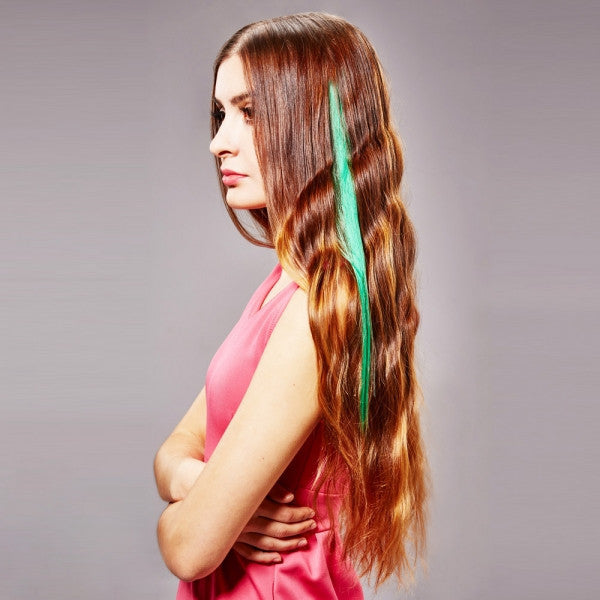 40cm Clip-on Women Synthetic Fiber Hair Extension Random Delivery