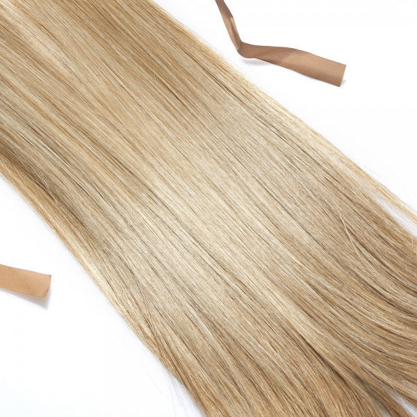 47cm Tied Type Women Synthetic Resistant Fiber Long Straight Ponytail Hair Extension Golden