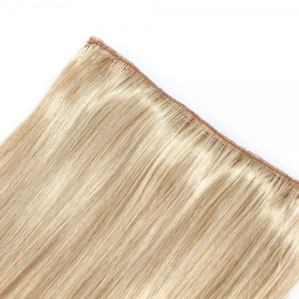 62cm BB Clip-on Women Synthetic Resistant Fiber Long Straight Ponytail Hair Extension Flaxen