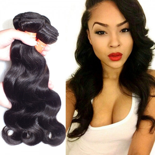 8 Inch Brazilian Virgin Hair Body Wave Hair Wig Natural Black
