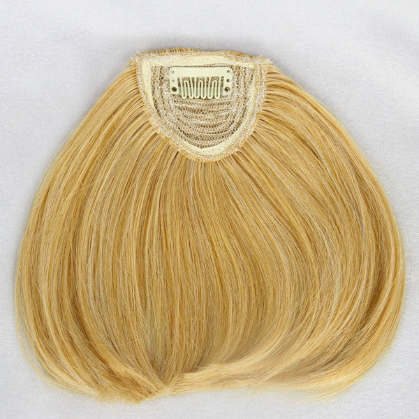 Fashionable Straight Neat Bang Hair Extension with Clip Light Brown
