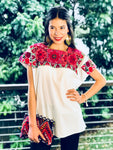 Hand embroidered Blouse | Floral Mosaic