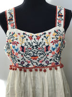 Floral Embroidered Sundress | Small