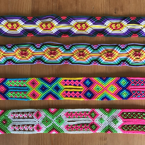 Woven colourful belts