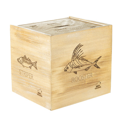 box challenge for the seigler mf saltwater fly reel which includes roosterfish and striper.