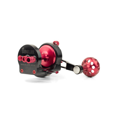 Magnetic brake on the surf casting reel made by Seigler fishing reels.