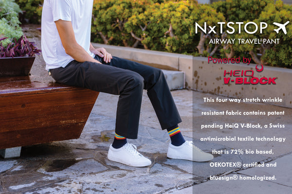 NxTSTOP Airway Travel Pant Powered by HeiQ V-Block