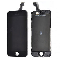 Full Front Assembly with Frame for iphone 5c Original Digitizer LCD - Black