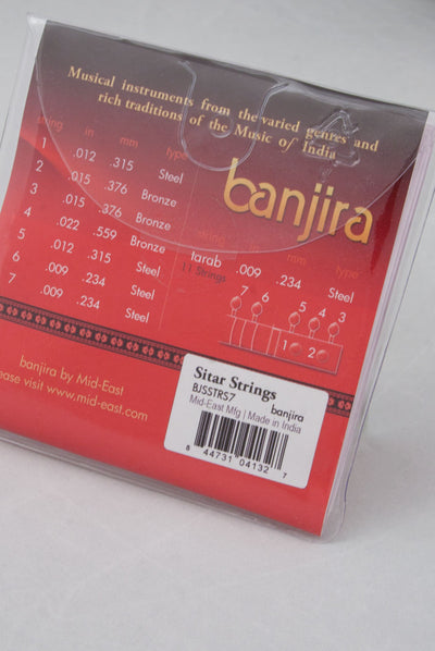 banjira 7-String Sitar String Set - Light