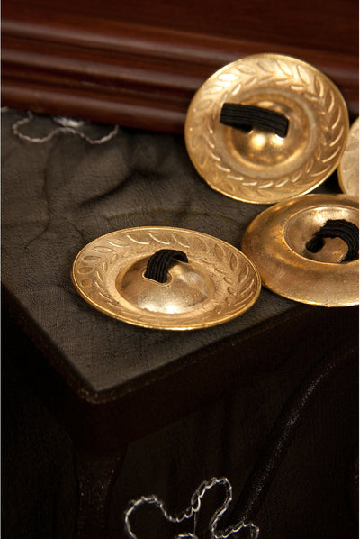 Mid-East Brass Decorated Finger Cymbals 1.9 inches