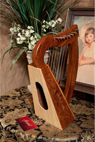 Roosebeck Lily Harp 8-String Knotwork