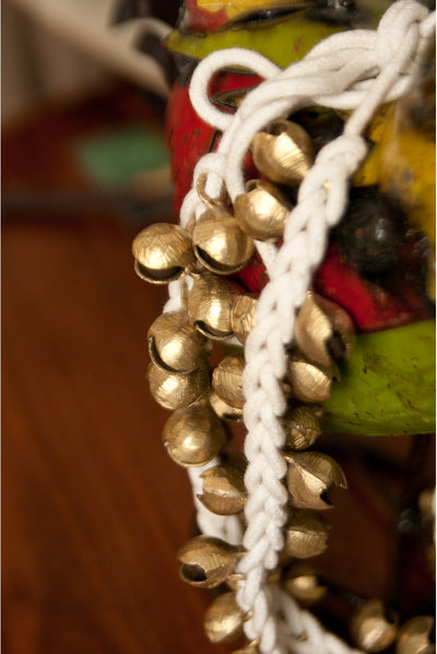 Mid-East String of 50 Clam Ankle Bells - Pair