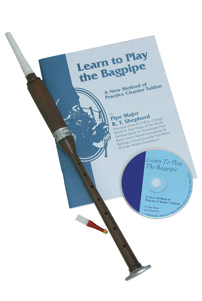 Roosebeck BAGL Sheesham Practice Chanter with Book and CD - Bagpipe Practice Chanter - BAGL-BC