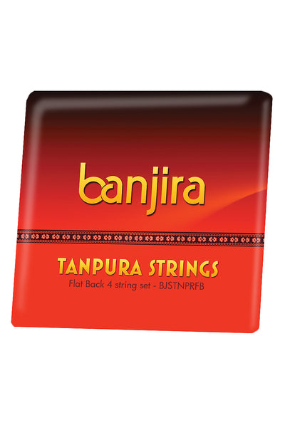 banjira Flat Back Tanpura String Set - Tanpura Accessories - BJSTNPRFB
