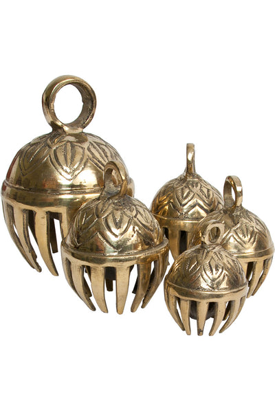 "DOBANI Graduated Solid Brass Elephant Bells 5-Piece 1.5-to-3"" - Elephant Bells - ELPB"
