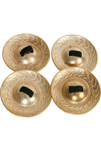 "Mid-East Brass Decorated Finger Cymbals 1.9"" - Finger Cymbals - FCD47"