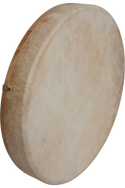 "DOBANI Tunable Goatskin Head Wooden Frame Drum with Beater 14"" x 2"" - Frame Drums - FD14T"
