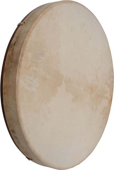 "DOBANI Pretuned Goatskin Head Red Cedar Wood Frame Drum with Beater 18"" x 2"" - Frame Drums - FD18RC"