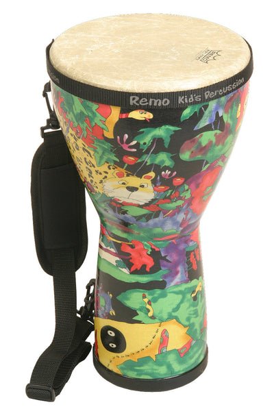 "Remo Kids Percussion Djembe 8"" x 15"" - Rain Forest - KIDS PERCUSSION by Remo - KD-0608-01"